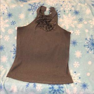 Gray Shimmer Top